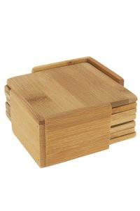 Untersetzer aus Bambus – 6er Set mit passendem Halter