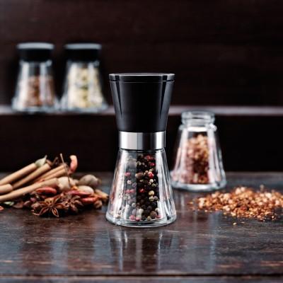 Elegante & praktische Gewürzmühle, kräftiges Keramikmahlwerk - Grinder aus Glas