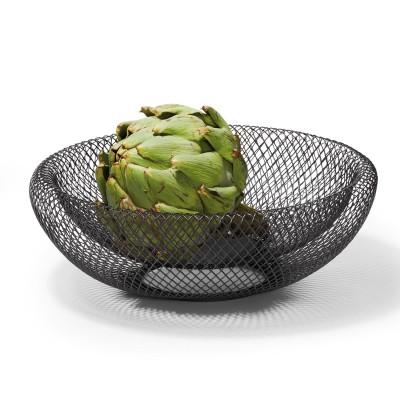 Kleine Schale aus Draht geflochten für Obst und Gemüse