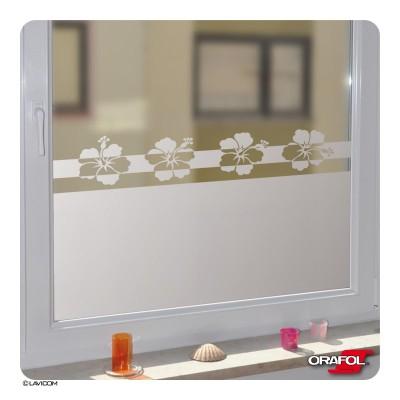 Fensterfolie + Maßanfertigung Hibiskus Blüten