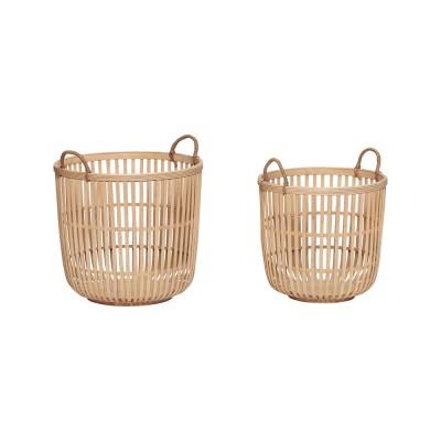 Korb aus Bambus Natur - 2er Set