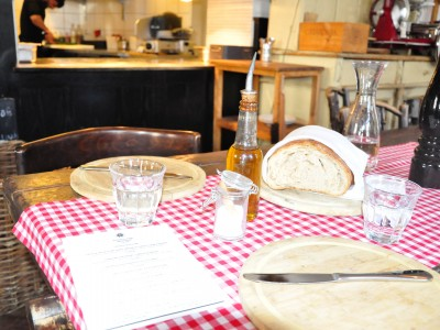 Tischläufer Landpartie Vichy Karo rot-weiß kariert