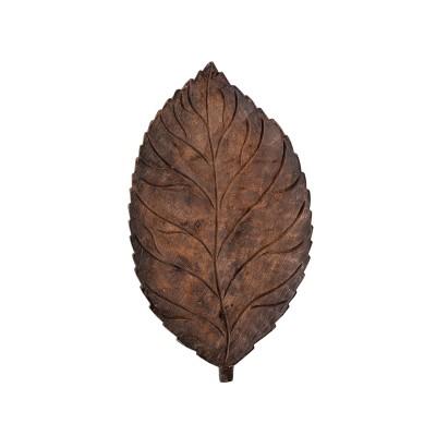 Bloomingville | Exklusive Dekoschale Adalie Holz Blatt Mango Wohnzimmer Dekoration Tischdeko