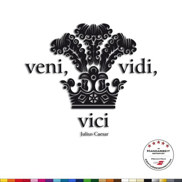 Wandtattoo + veni vidi vici + Kaiser Gaius Julius Caesar