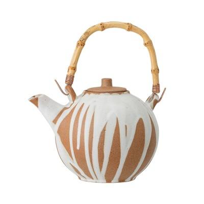 Teekanne mit Teesieb | Iris | Teapot Steinzug Nature