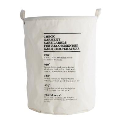 House Doctor - Wash beschichteter Wäschesack - Stylischer runder Wäschebeutel