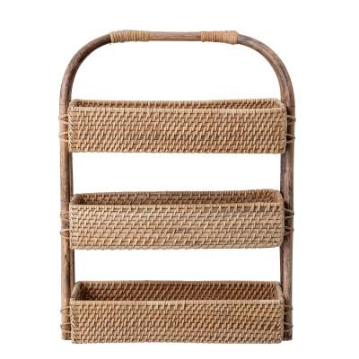 Bloomingville | Manabi Regal Basket Gewürzregal Etagere Aufbewahrung Nature Rattan