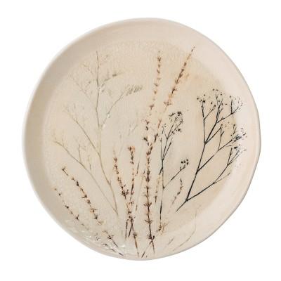 Speiseteller | Bea | Teller Platte Floral Cracle Glasur