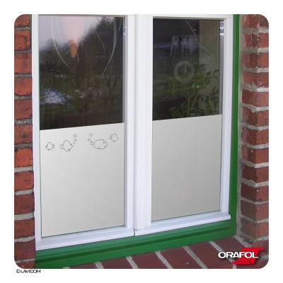 Fensterfolie Glasdekorfolie Fische Fensterdekoration Sichtschutzfolie