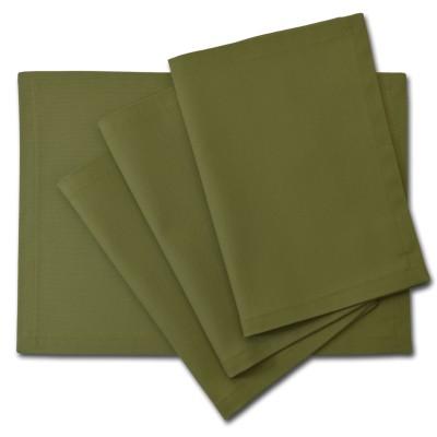 Platzset Tischdecken - Canvas schlamm grün