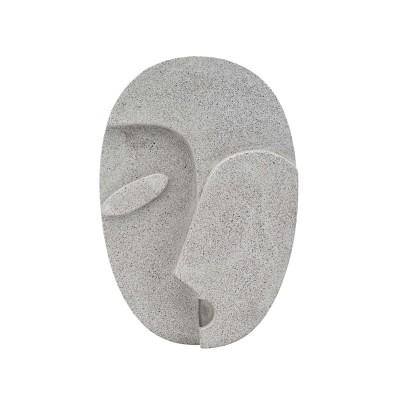 Gesicht Design Skulptur aus Beton