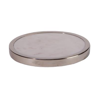 Untersetzer Las Vegas Messing Marmor silber weiß