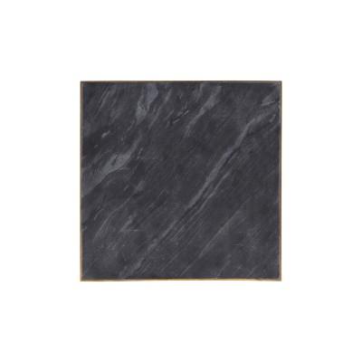 House Doctor | Servierbrett Details Tablett Servierplatte Tischdekoration Untersetzer – Marmor, schwarz