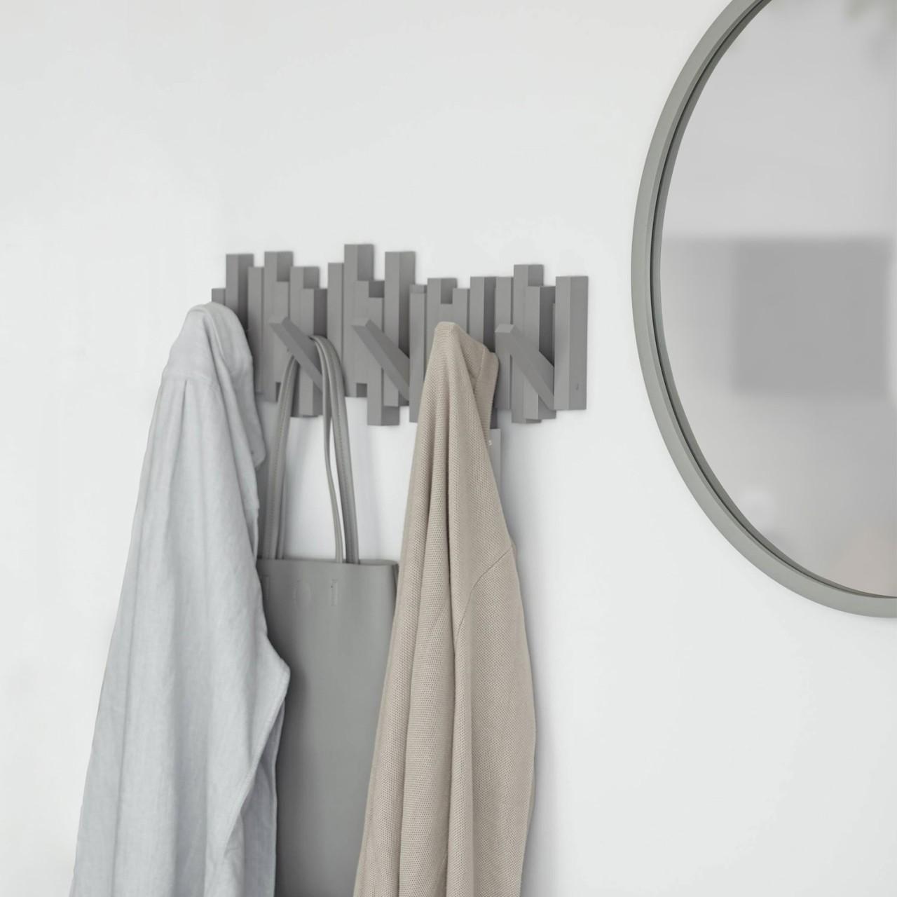 Moderne Garderobenleiste, 5 Haken - Garderobenhaken für Schals, Jacken & Mäntel