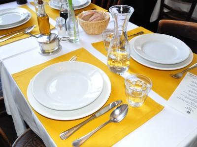 Platzset Tischdecken - Canvas Senfgelb