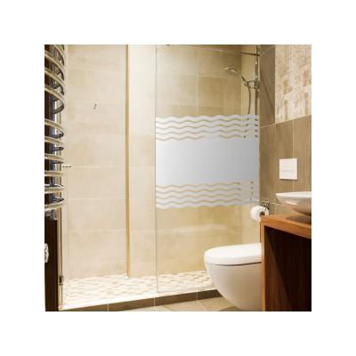 Sichtschutzfolie für Duschkabine Sauna Wellen + Maßanfertigung