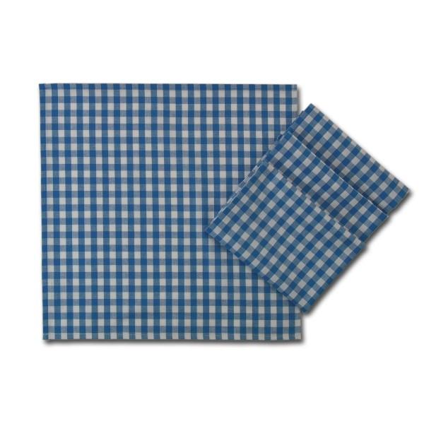 Stoffservietten Landpartie blau-weiß kariert – 4-er Set