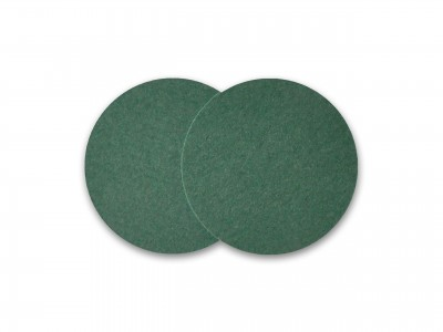 Untersetzer Wollfilz [KEIN Polyester] Glasuntersetzer Merinowolle Barzubehör – dunkelgrün