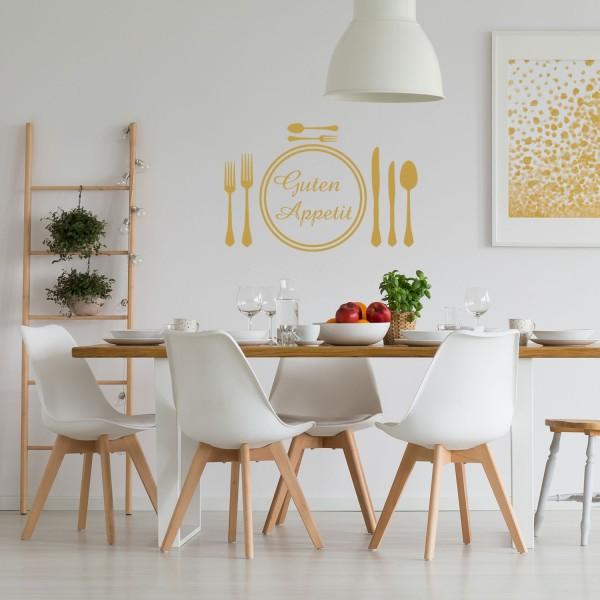 Wandtattoo - Guten Appetit - Wandsticker Küchen Dekoration