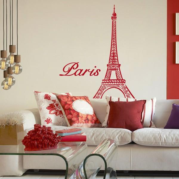 Wandsticker [Eiffelturm] Frankreich Paris Wanddekor Wandtattoo Wandaufkleber