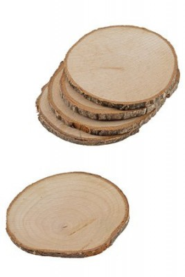 Untersetzer aus Naturholz Holzscheiben – 5 Stück im Netz