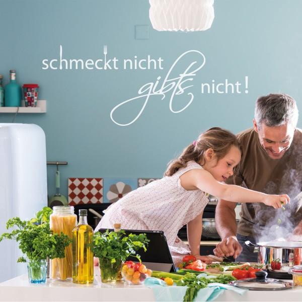Wandtattoo [Schmeckt nicht...] Sprüche Wandsticker Küche Kantine Bistro Wanddekoration