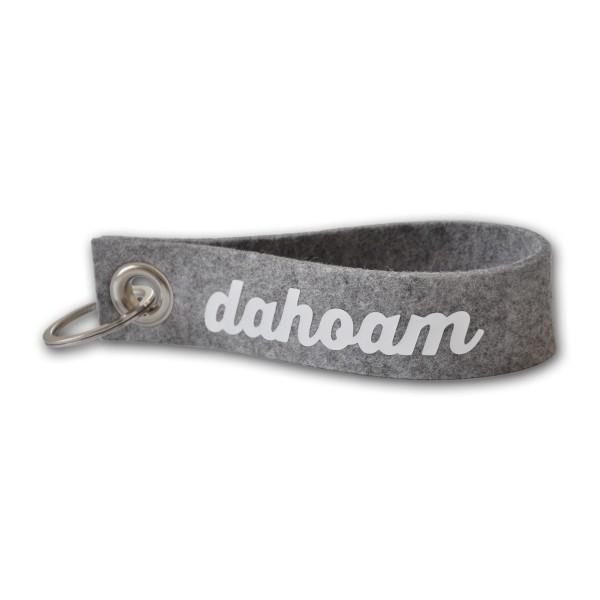 """Schlüsselband Naturwollfilz Handschlaufe Filzband """"dahoam"""""""