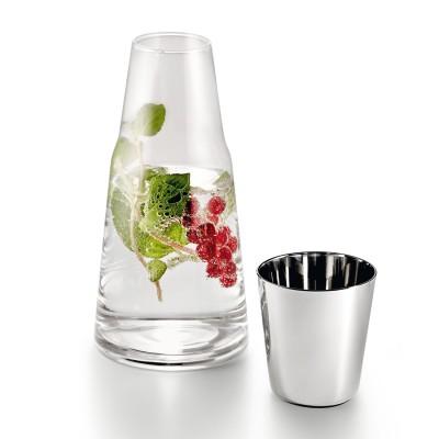 Glas Karaffe mit Trinkglas