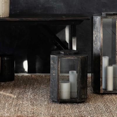 Kompakte Laterne für Kerzen und Teelichter