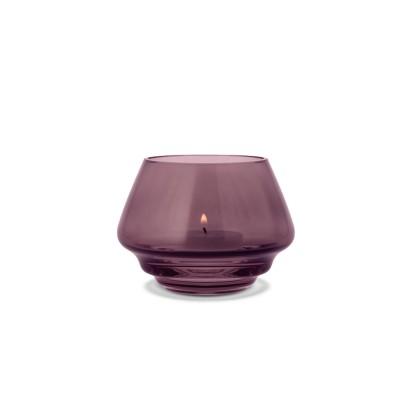 Holmegaard | Flow Teelichthalter Glas Kerzenhalter – pflaume