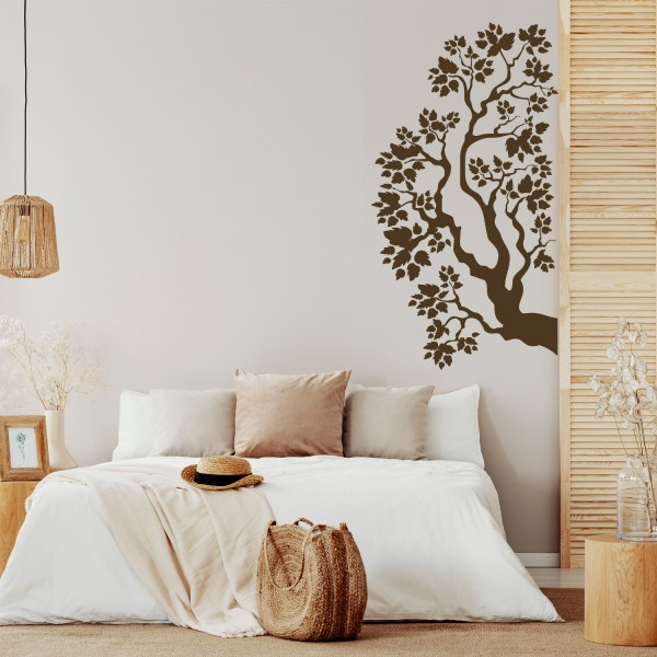 Wandtattoo [Dekoratives Bäumchen] Baum Blätter Floral Natur Wanddekoration