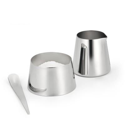 Philippi   Milchkännchen und Zuckerdose 100% Edelstahl - Kaffee-Set in funktionalem Design