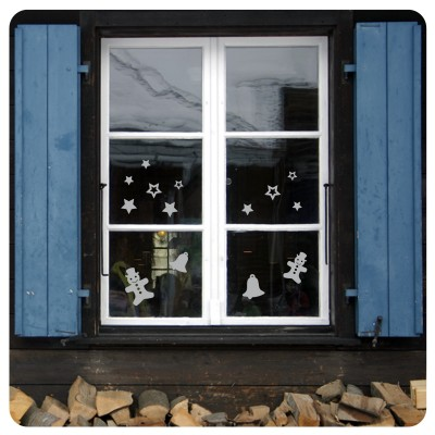 Fenstersticker Schneemann & Co Fensterbild