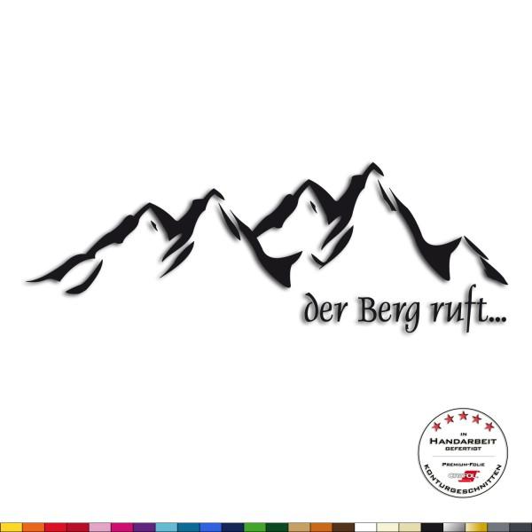 Wandtattoo - Der Berg ruft - Alpen Wandaufkleber Wandsticker