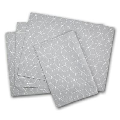 Graues Platzdeckchen mit grafischem Muster