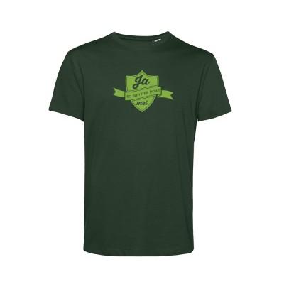 Herren T-Shirt Organic - Ja mei - forrest green