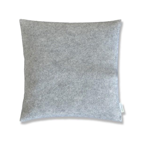 Zierkissen Filz Dekokissen grau meliert 40cm x 40cm inkl. Federkissen