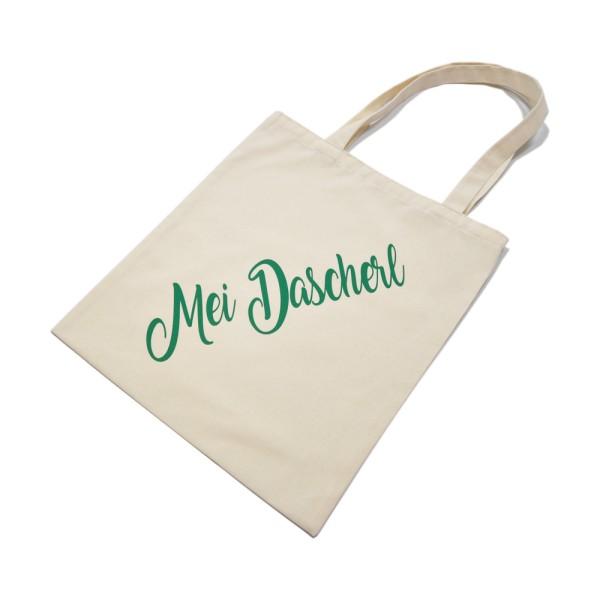 Jutebeutel [Mei Dascherl] Baumwolle Einkaufstasche - natur / grün