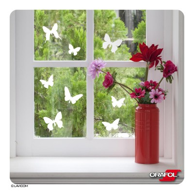 10 Schmetterlinge Fenstersticker Butterflies