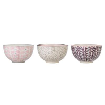 Bloomingville | Snackschüssel Maya Schüssel Set Bowl Schälchen – mehrfarbig, 3er Set