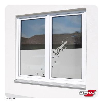 Sichtschutzfolie Gecko Fensterfolie Glasdekorfolie Sandstrahloptik