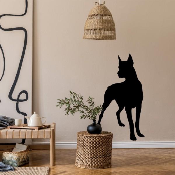 Wandtattoo [Dobermann] Hunde Wandsticker Wanddekoration Wohnzimmer Dekoration