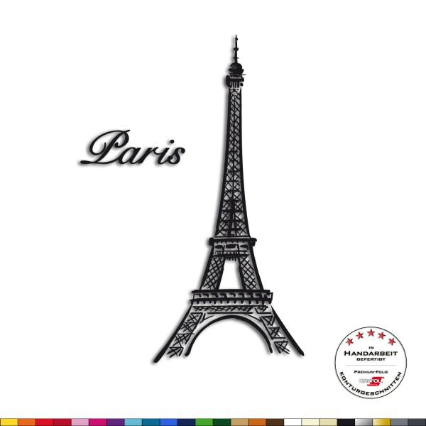 Wandtattoo + Eiffelturm + Paris Frankreich Aufkleber Sticker