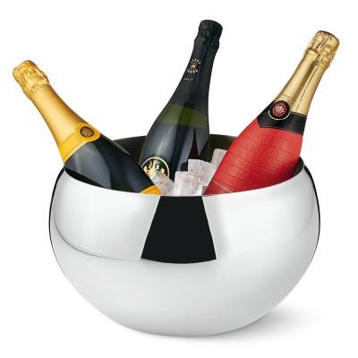 Philippi - NIZZA Champagnerkühler Edelstahl Kühler Kugel Design doppelwandig