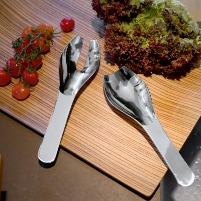 Salatbesteck aus Edelstahl - passend