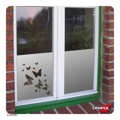 Sichtschutzfolie + Maßanfertigung Schmetterlinge Fensterfolie