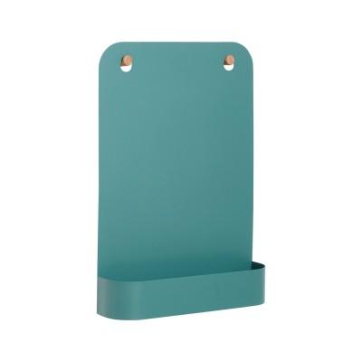 Magnetische Tafel mit Ablage - grün
