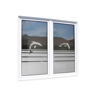 Glasdekorfolie Delfine Streifen Fensterfolie Sandstrahloptik