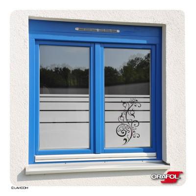 Fensterfolie Florales Ornament Glasdekorfolie + Maßanfertigung